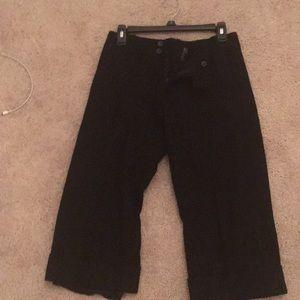 Black wool trouser capris